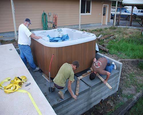 how to set up hot tub