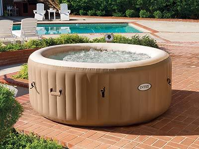 Intex 77in PureSpa Portable Bubble hot tub