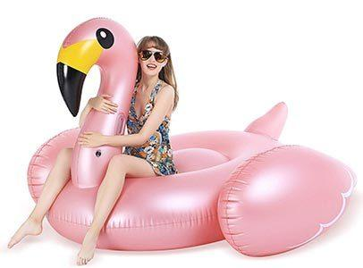 Jasonwell Giant Inflatable Flamingo Pool Float