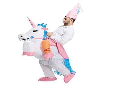 TOLOCO Inflatable Unicorn Rider Costume